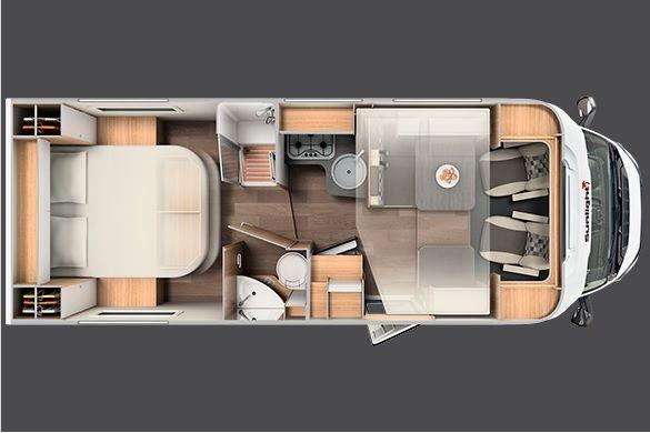 plano interior autocaravana de alquiler