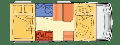 esquema de autocaravana de alquiler