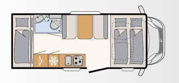 plano interior autocarabana de alquiler