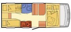 plano de autocaravana de alquiler