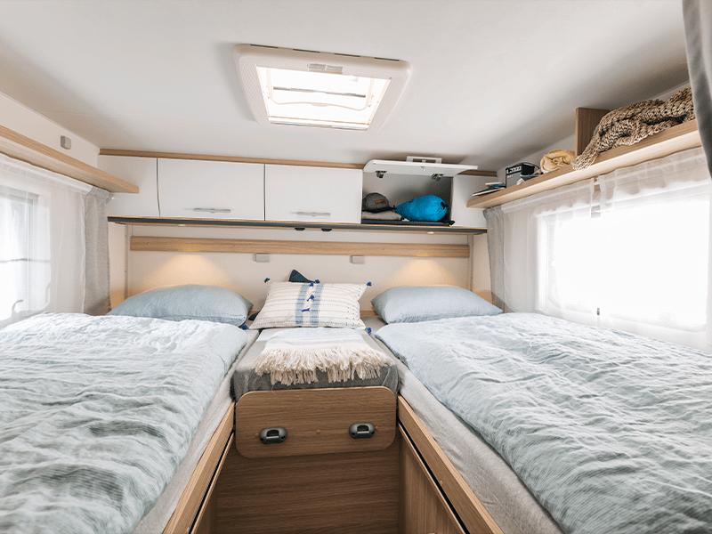 alquiler de caravanas T68 camas individuales